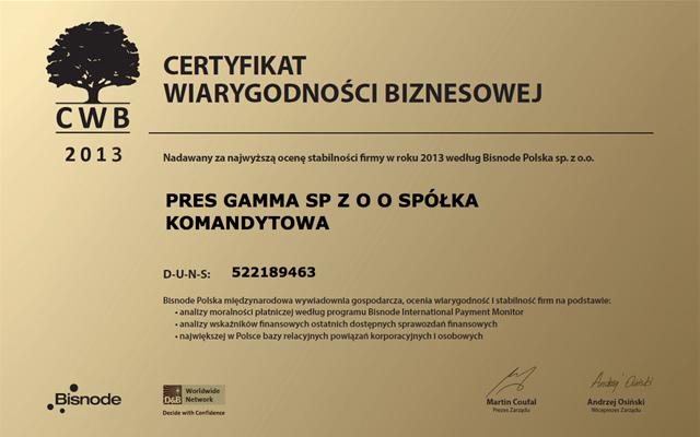 PRES Deweloper - SWB złoty